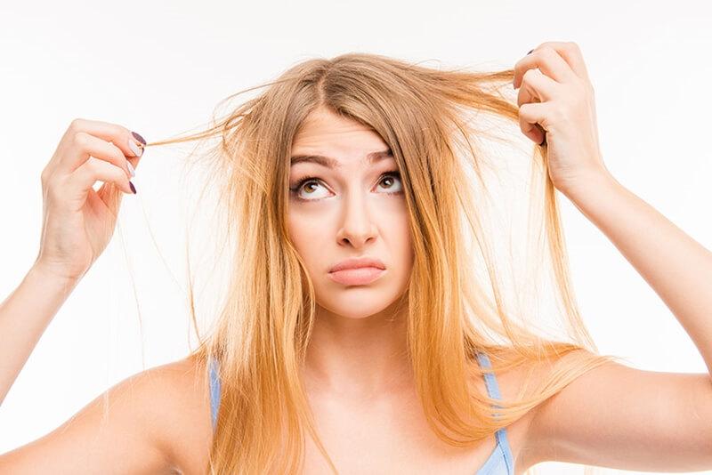髪の毛の静電気